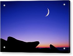 Crescent Moon Halibut Pt. Acrylic Print by Michael Hubley