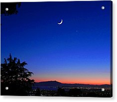 Crescent Moon San Francisco Bay Acrylic Print