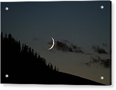 Acrylic Print featuring the photograph Crescent Silhouette by Jeremy Rhoades