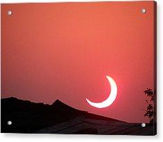 Crescent Sunset Acrylic Print