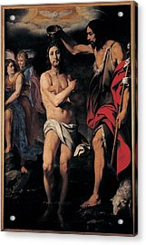 Crespi Daniele, The Baptism Of Christ Acrylic Print by Everett