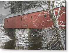 Cresson Bridge  Nh Acrylic Print by Gail Maloney