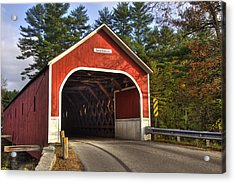 Cresson Covered Bridge 2 Acrylic Print by Joann Vitali