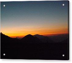 Crest Sunset Acrylic Print
