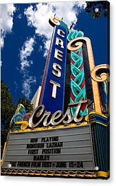 Crest Theater Acrylic Print
