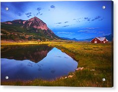 Crested Butte Morning Acrylic Print by Darren  White