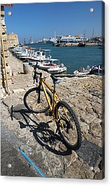 Acrylic Print featuring the photograph Crete Bicycle by John Jacquemain