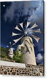 Creton Windmills Acrylic Print by David Smith
