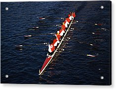 Crew Boat At Head Of Charles Regatta Acrylic Print by Panoramic Images