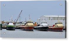 Crew Boats At Port Fourchon Acrylic Print