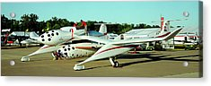 Crews Working On An Aircraft Acrylic Print by Panoramic Images