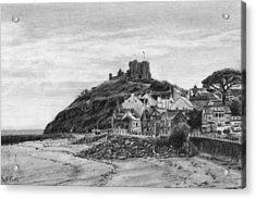 Criccieth Beach Wales Uk Acrylic Print