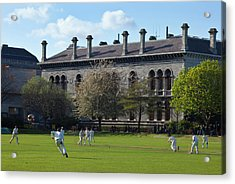 Cricket Match On College Park,with Acrylic Print by Panoramic Images