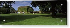 Cricket Match On The Green Acrylic Print by Panoramic Images
