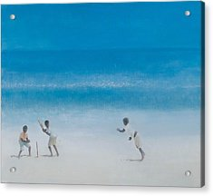 Cricket On The Beach, 2012 Acrylic On Canvas Acrylic Print