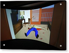 Crime Scene Reconstruction Acrylic Print by Louise Murray/science Photo Library
