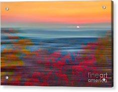 Crimson Dawn - A Tranquil Moments Landscape Acrylic Print by Dan Carmichael