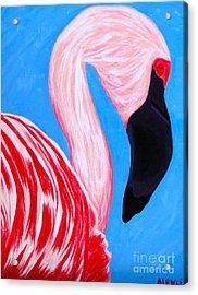 Crimson Flamingo Acrylic Print
