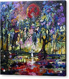Crimson Moon Over The Garden Of Good And Evil Acrylic Print