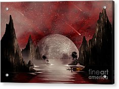 Crimson Night Acrylic Print