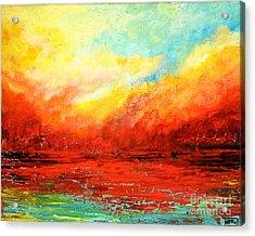 Crimson No.2 Acrylic Print by Teresa Wegrzyn