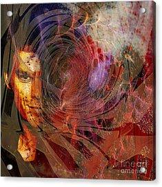 Crimson Requiem - Square Version Acrylic Print by John Robert Beck