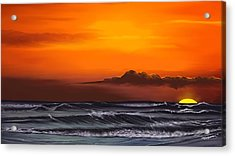 Acrylic Print featuring the drawing Crimson Sunset by Anthony Fishburne