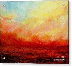 Crimson Acrylic Print by Teresa Wegrzyn