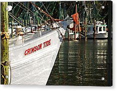 Crimson Tide Bow Acrylic Print by Michael Thomas