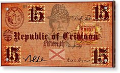 Crimson Tide Currency Acrylic Print by Greg Sharpe