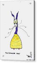 Crinoline Lady Acrylic Print by Tis Art