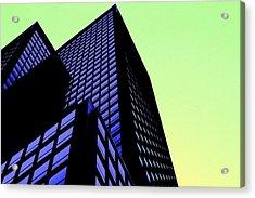 crisp angles NY city Acrylic Print by Terry Horstman