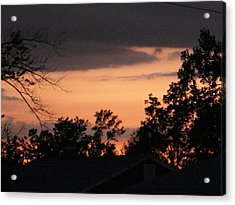 Crisp Fiery Landscape Acrylic Print by Suzanne Perry