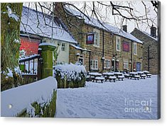 Crispin Inn At Ashover Acrylic Print by David Birchall
