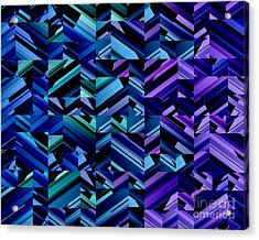 Criss Cross Blues Acrylic Print