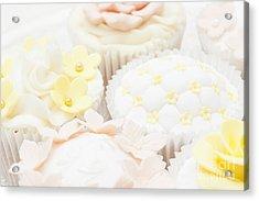 Criss-cross Cupcake Acrylic Print by Anne Gilbert