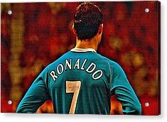 Cristiano Ronaldo Poster Art Acrylic Print
