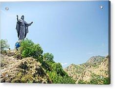 Cristo Rei Statue Near Dili East Timor Timor Leste Acrylic Print