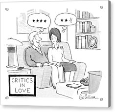 Critics In Love Acrylic Print