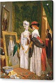 Critics On Costume, Fashions Change Acrylic Print by John Callcott Horsley