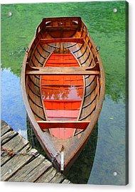 Croatian Rowboat Acrylic Print by Ramona Johnston
