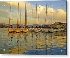 Croatian Sailboats Acrylic Print