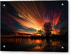 Crocheting The Clouds Acrylic Print by Matt Molloy