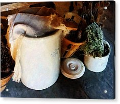 Crock And Basket Acrylic Print by Susan Savad