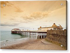 Cromer Pier Acrylic Print by Shirley Mitchell