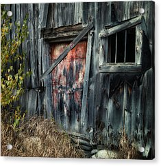 Crooked Barn - Rustic Barns Series  Acrylic Print by Thomas Schoeller