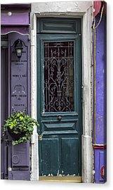 Crooked Door In Montmartre Acrylic Print