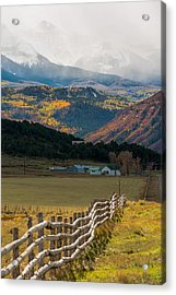 Crooked Fence Acrylic Print