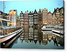 Crooked Houses On The Canal Acrylic Print