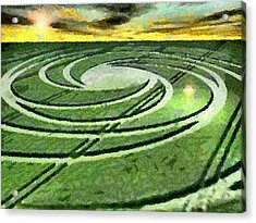 Crop Circles In Field Acrylic Print